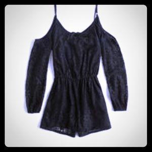 Hollister Black Lace Romper